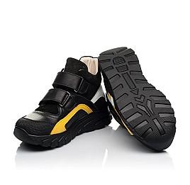 Детские демисезонные ботинки (подкладка кожа) Woopy Fashion черные для мальчиков натуральная кожа, замша размер 26-40 (8026) Фото 2