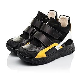 Детские демисезонные ботинки (подкладка кожа) Woopy Fashion черные для мальчиков натуральная кожа, замша размер 26-40 (8026) Фото 3