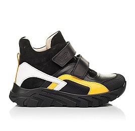 Детские демисезонные ботинки (подкладка кожа) Woopy Fashion черные для мальчиков натуральная кожа, замша размер 26-40 (8026) Фото 4