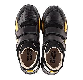 Детские демисезонные ботинки (подкладка кожа) Woopy Fashion черные для мальчиков натуральная кожа, замша размер 26-40 (8026) Фото 5