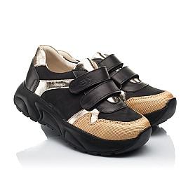 Детские кроссовки Woopy Fashion черные для девочек натуральный нубук, кожа размер 28-38 (8028) Фото 1