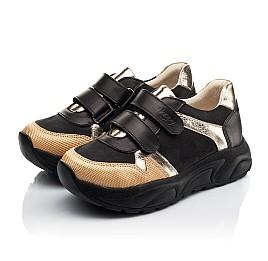 Детские кроссовки Woopy Fashion черные для девочек натуральный нубук, кожа размер 28-38 (8028) Фото 3
