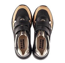 Детские кроссовки Woopy Fashion черные для девочек натуральный нубук, кожа размер 28-38 (8028) Фото 5