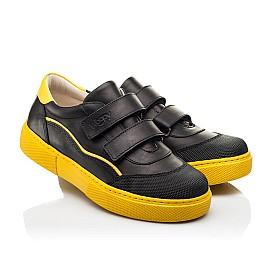 Детские кеды Woopy Fashion черные для девочек натуральная кожа размер 26-40 (8032) Фото 1