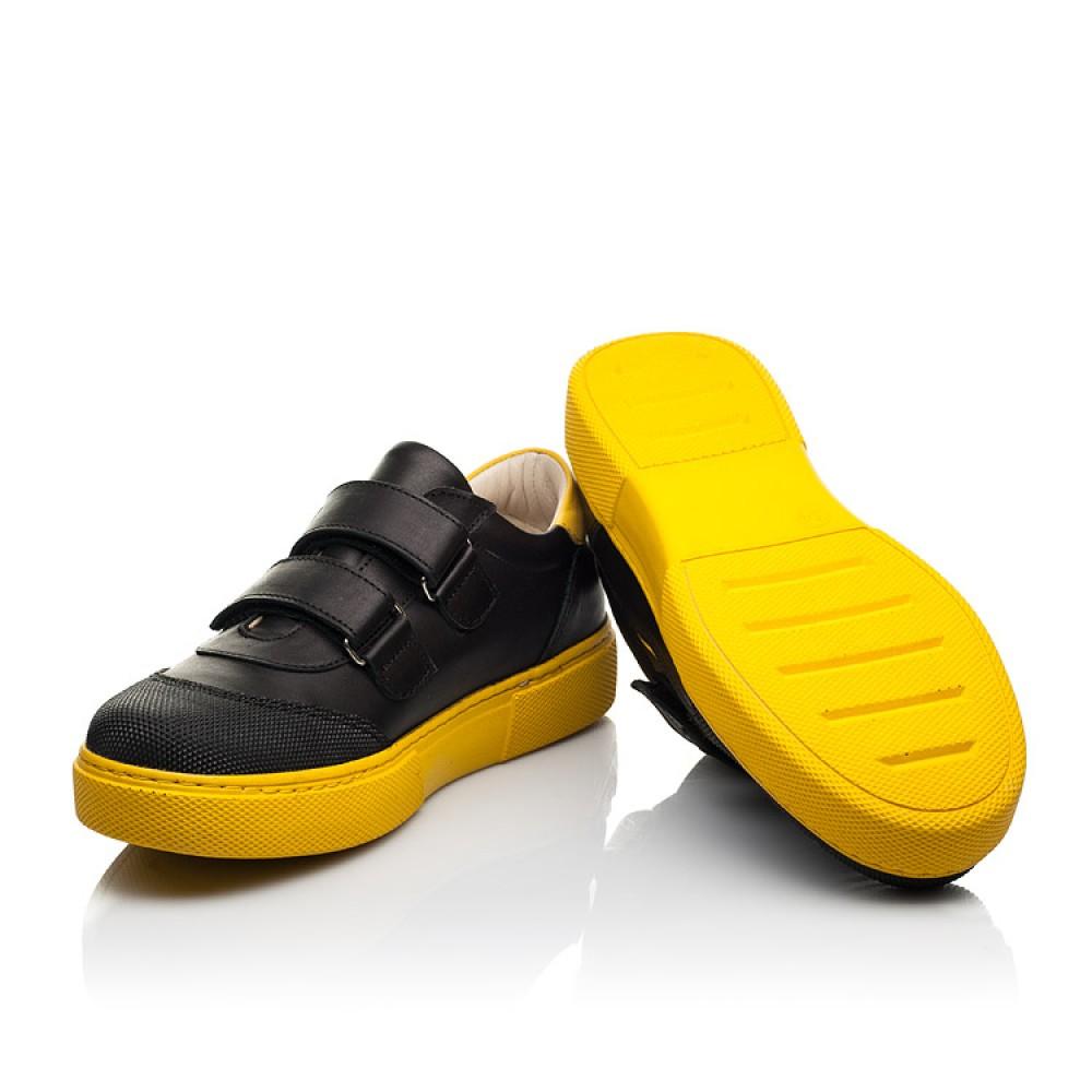 Детские кеды Woopy Fashion черные для девочек натуральная кожа размер 26-40 (8032) Фото 2