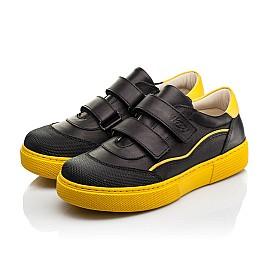 Детские кеды Woopy Fashion черные для девочек натуральная кожа размер 26-40 (8032) Фото 3