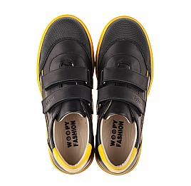 Детские кеды Woopy Fashion черные для девочек натуральная кожа размер 26-40 (8032) Фото 5