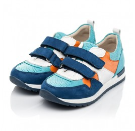 Детские кроссовки Woopy Fashion разноцветные для мальчиков натуральный нубук размер 20-37 (8033) Фото 3
