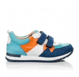 Детские кроссовки Woopy Fashion разноцветные для мальчиков натуральный нубук размер 20-37 (8033) Фото 4