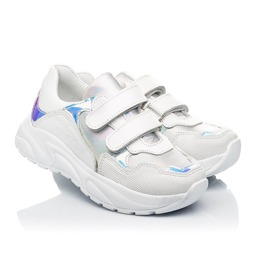 Детские кроссовки Woopy Fashion белые для девочек натуральная кожа размер 21-39 (8038) Фото 1