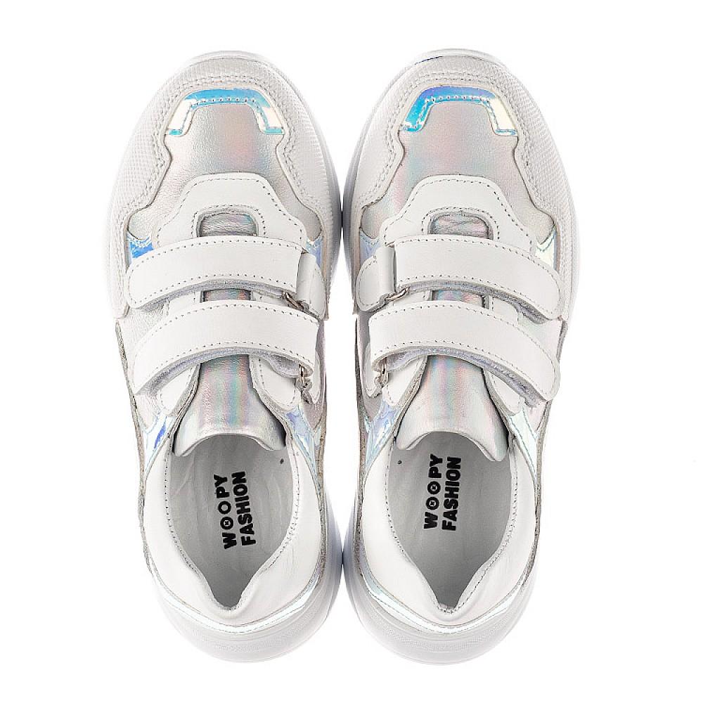 Детские кроссовки Woopy Fashion белые для девочек натуральная кожа размер 21-39 (8038) Фото 5