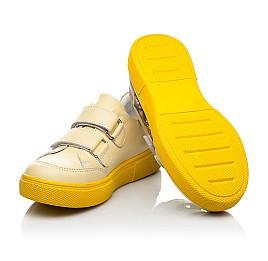 Детские кеды Woopy Fashion желтые для девочек натуральная кожа размер 26-30 (8039) Фото 2