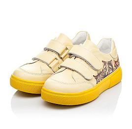 Детские кеды Woopy Fashion желтые для девочек натуральная кожа размер 21-30 (8039) Фото 3