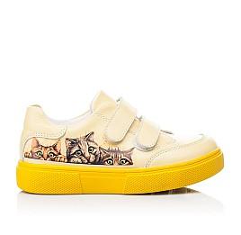 Детские кеды Woopy Fashion желтые для девочек натуральная кожа размер 26-30 (8039) Фото 4