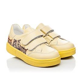Детские кеды Woopy Fashion желтые для девочек натуральная кожа размер 21-30 (8039) Фото 6