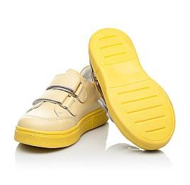 Детские кеды Woopy Fashion желтые для девочек натуральная кожа размер 21-30 (8039) Фото 7