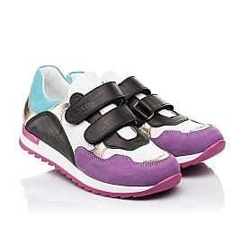 Детские кроссовки Woopy Fashion разноцветные для девочек натуральный нубук и кожа размер 18-36 (8040) Фото 1