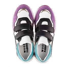 Детские кроссовки Woopy Fashion разноцветные для девочек натуральный нубук и кожа размер 18-36 (8040) Фото 5