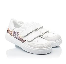 Детские кеды Woopy Fashion белые для девочек натуральная кожа размер 28-39 (8042) Фото 1