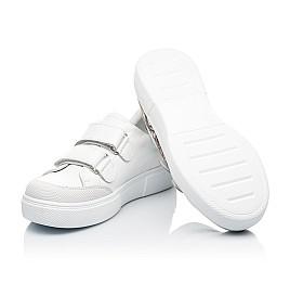 Детские кеды Woopy Fashion белые для девочек натуральная кожа размер 28-38 (8042) Фото 2