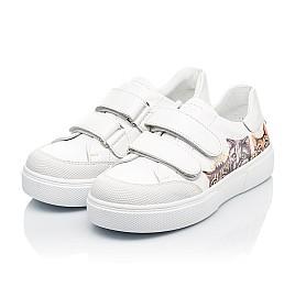 Детские кеды Woopy Fashion белые для девочек натуральная кожа размер 28-38 (8042) Фото 3