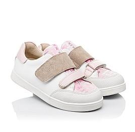 Детские кеды Woopy Fashion белые для девочек натуральная кожа размер 19-30 (8044) Фото 1