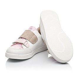 Детские кеды Woopy Fashion белые для девочек натуральная кожа размер 19-30 (8044) Фото 2