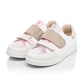 Детские кеды Woopy Fashion белые для девочек натуральная кожа размер 19-30 (8044) Фото 3