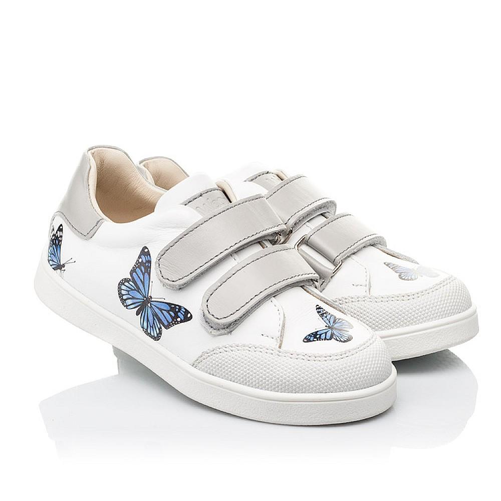 Детские кеды Woopy Fashion белые для девочек натуральная кожа размер 21-30 (8045) Фото 1