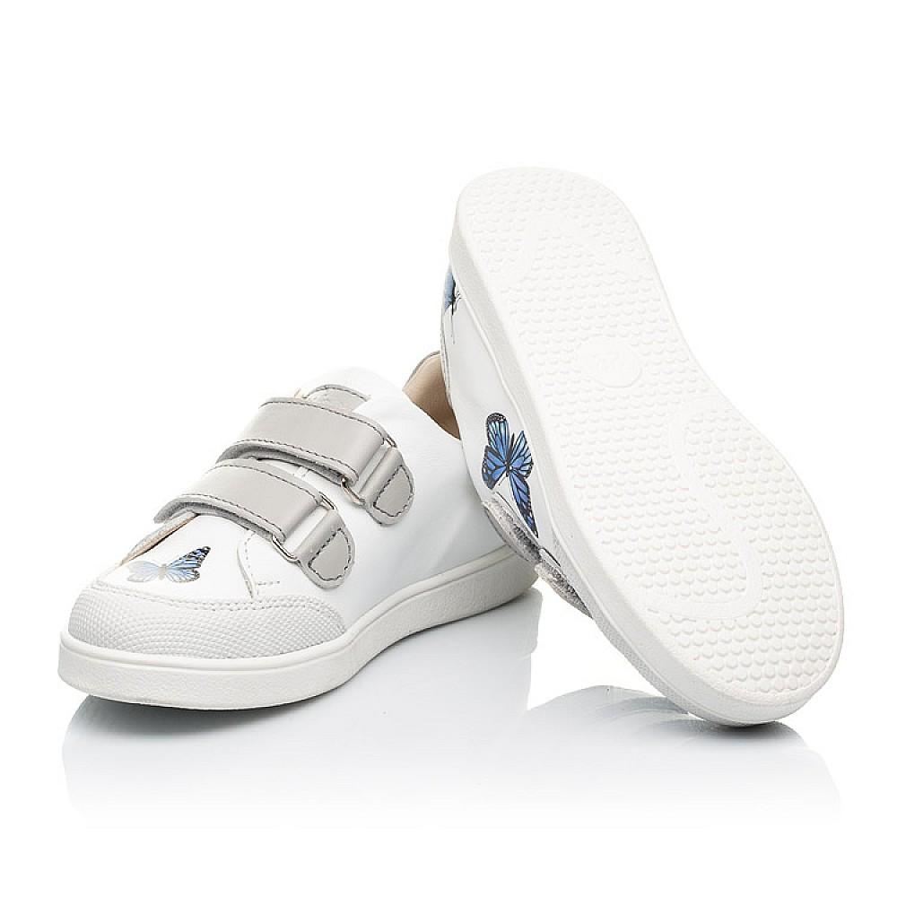 Детские кеды Woopy Fashion белые для девочек натуральная кожа размер 21-30 (8045) Фото 2