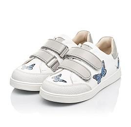 Детские кеды Woopy Fashion белые для девочек натуральная кожа размер 21-30 (8045) Фото 3