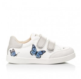 Детские кеды Woopy Fashion белые для девочек натуральная кожа размер 21-30 (8045) Фото 4