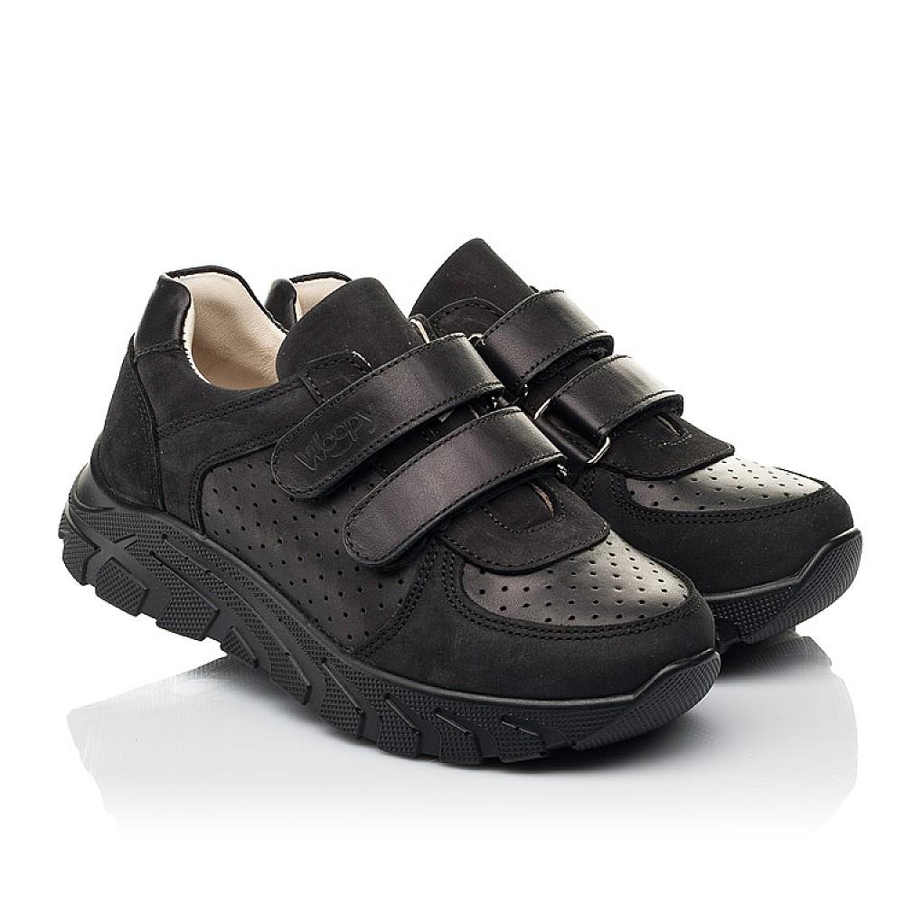 Детские кроссовки Woopy Fashion черные для девочек натуральная кожа и нубук размер 30-40 (8046) Фото 1