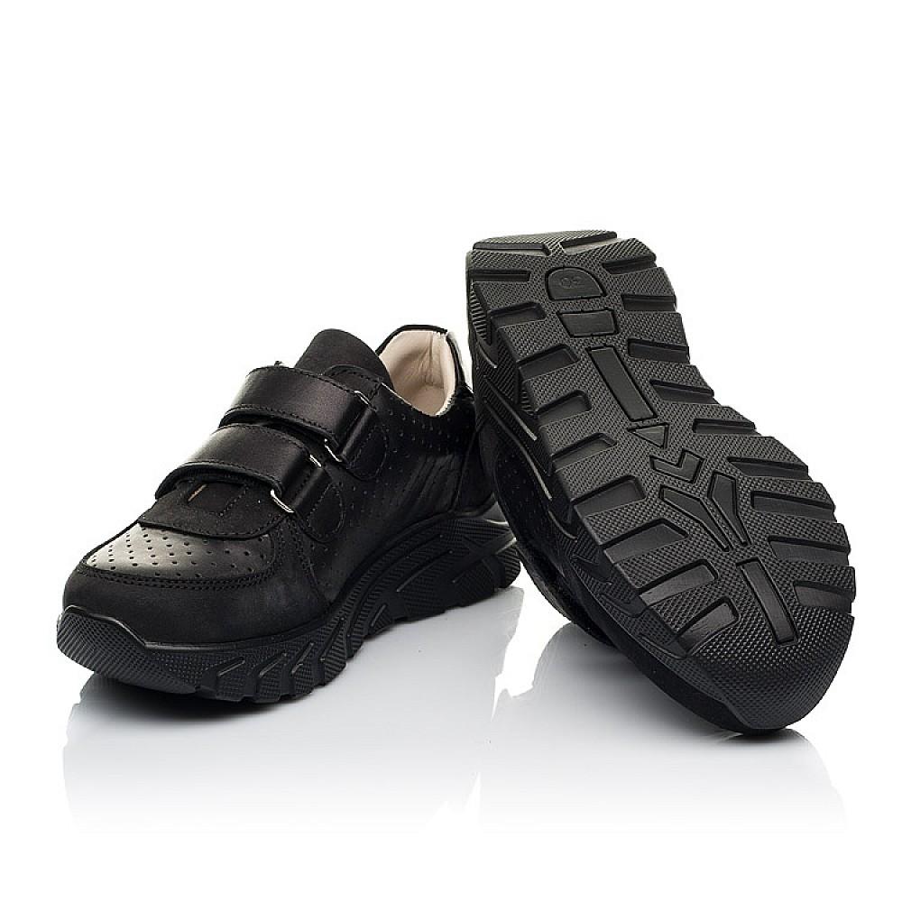 Детские кроссовки Woopy Fashion черные для девочек натуральная кожа и нубук размер 30-40 (8046) Фото 2