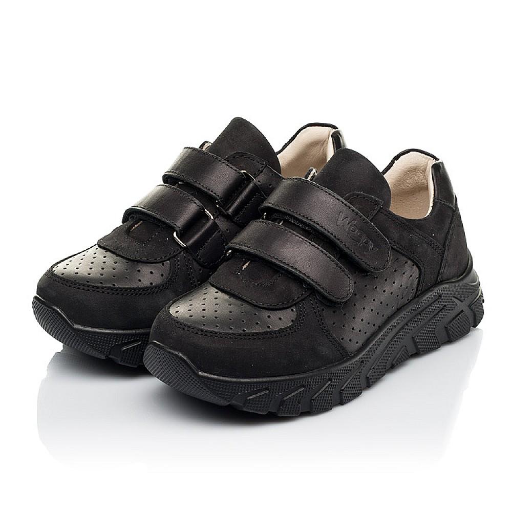 Детские кроссовки Woopy Fashion черные для девочек натуральная кожа и нубук размер 30-40 (8046) Фото 3