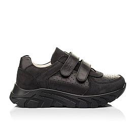 Детские кроссовки Woopy Fashion черные для девочек натуральная кожа и нубук размер 30-40 (8046) Фото 4