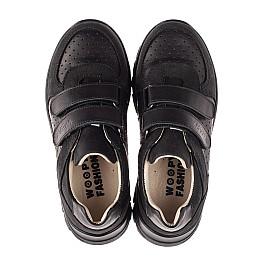Детские кроссовки Woopy Fashion черные для девочек натуральная кожа и нубук размер 30-40 (8046) Фото 5