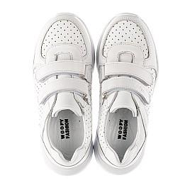 Детские кроссовки Woopy Fashion белые для девочек натуральная кожа размер 26-40 (8047) Фото 5
