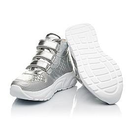 Детские демисезонные ботинки (подкладка кожа) Woopy Orthopedic серебряные для девочек натуральная кожа размер 31-40 (8050) Фото 2