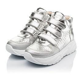 Детские демисезонные ботинки (подкладка кожа) Woopy Orthopedic серебряные для девочек натуральная кожа размер 31-40 (8050) Фото 3