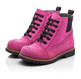 Детские демисезонные ботинки Woopy Orthopedic розовые для девочек натуральный нубук размер 27-38 (8051) Фото 3