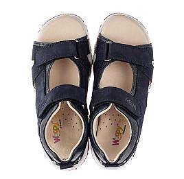 Детские босоножки Woopy Fashion синие для мальчиков натуральный нубук размер 31-40 (8053) Фото 5