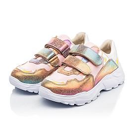 Детские кроссовки Woopy Fashion разноцветные для девочек натуральная кожа и нубук размер 28-40 (8055) Фото 3
