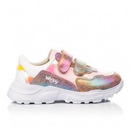 Детские кроссовки Woopy Fashion разноцветные для девочек натуральная кожа и нубук размер 28-40 (8055) Фото 4