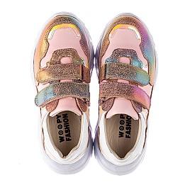 Детские кроссовки Woopy Fashion разноцветные для девочек натуральная кожа и нубук размер 28-40 (8055) Фото 5