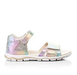 Детские босоножки Woopy Fashion разноцветные для девочек натуральный нубук размер 32-39 (8056) Фото 4