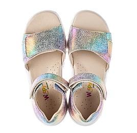 Детские босоножки Woopy Fashion разноцветные для девочек натуральный нубук размер 32-39 (8056) Фото 5