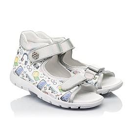 Детские босоножки Woopy Fashion белые для девочек натуральная кожа размер 24-37 (8058) Фото 1