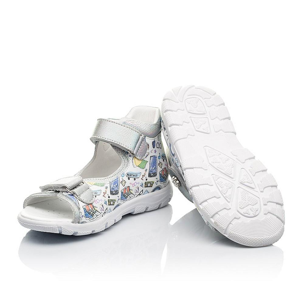 Детские босоножки Woopy Fashion белые для девочек натуральная кожа размер 24-37 (8058) Фото 2