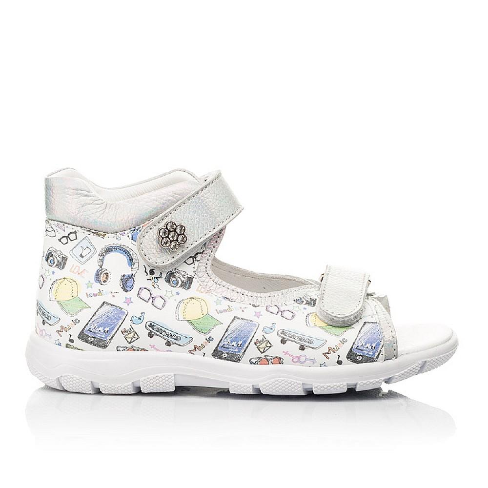 Детские босоножки Woopy Fashion белые для девочек натуральная кожа размер 24-37 (8058) Фото 4